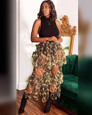 Army Sheer Skirt