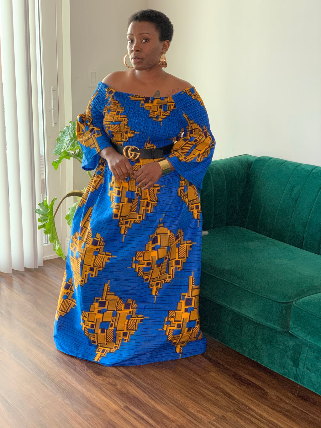 Blue Loyalty African Maxi Dress