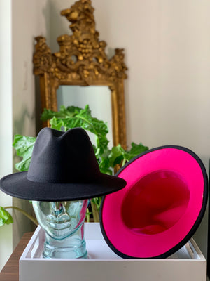 Black Hat Pink Bottom