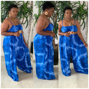Over Size Tye Dye Jumpsuit