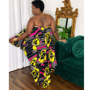Dream African Print Black Yellow