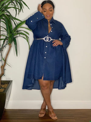 Denim Diamond Dress