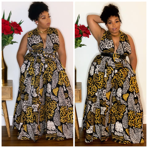 Brown Girl African Infinity Jumpsuit | Pants