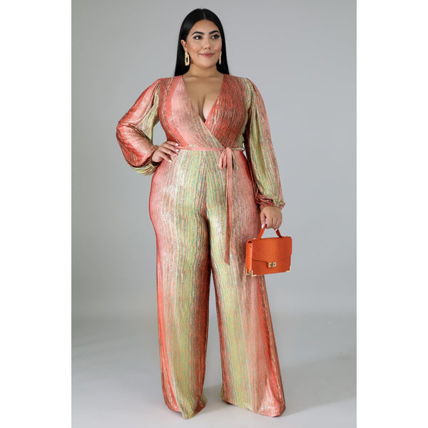 I Like The New Touch Of Pink In: Touch Of Pink Gold Jumpsuit