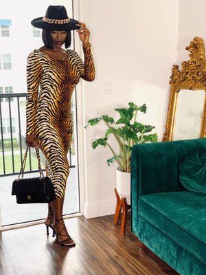 Date Night Animal Print Body Dress