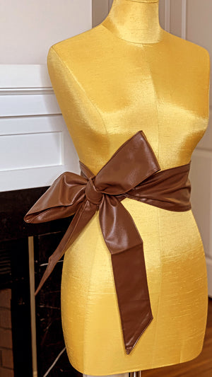 Chocolate Wrap Belt Brown