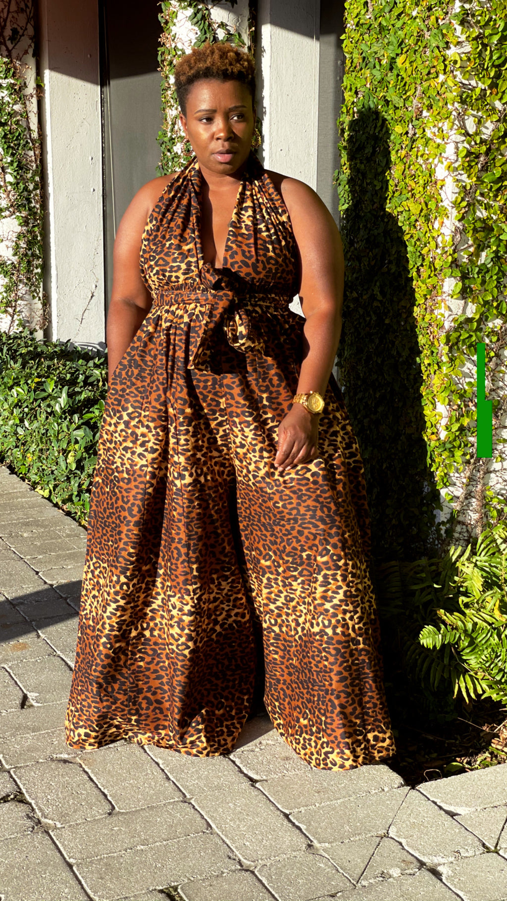 Animal Print Infinity Jumpsuit