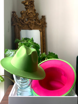 Green Hat Pink Bottom