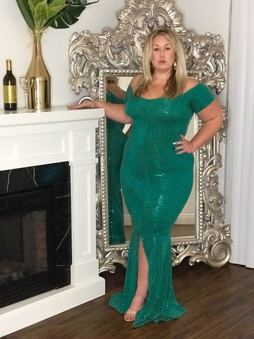 Holiday Mermaid Dress Green