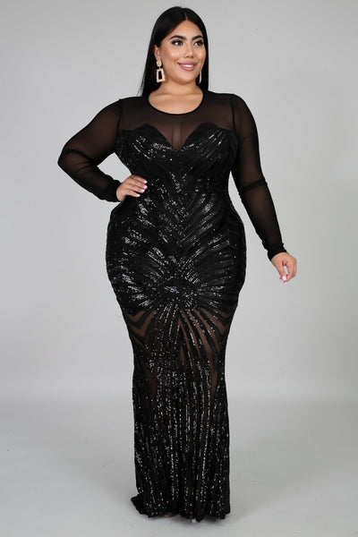 Hollywood Glam Plus Size Dress