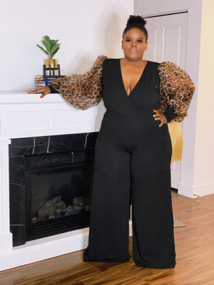 Over The Top Animal Print Jumpsuit