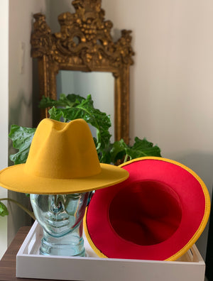 Yellow Hat Red Bottom
