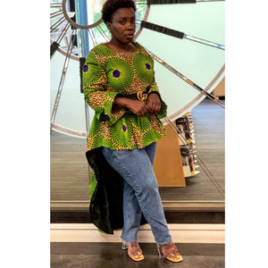 Green Afro Inspired Blouse