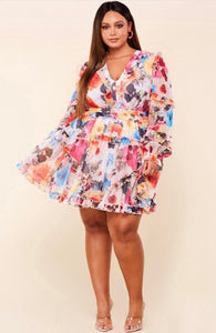 Cattleya Flower Dress