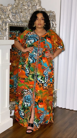 Tangy Butterfly Maxi Dress