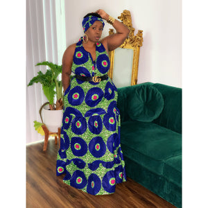 Royalty Maxi Dress Blue Green