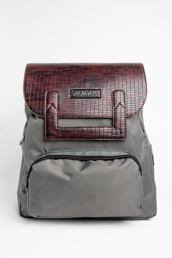 Melrose Backpack with Maroon Croc Cover