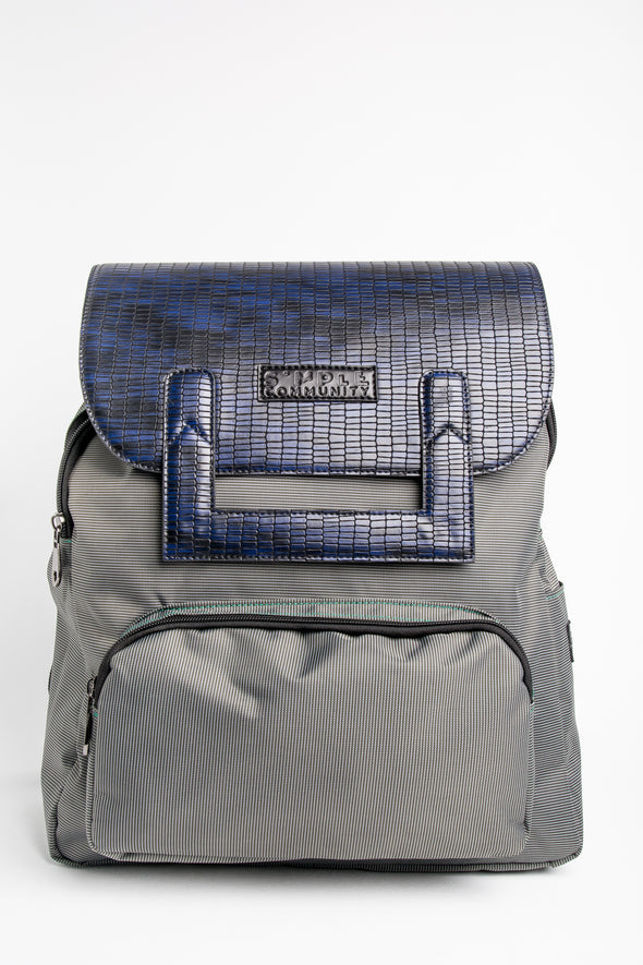 Melrose Backpack with Blue Croc Cover