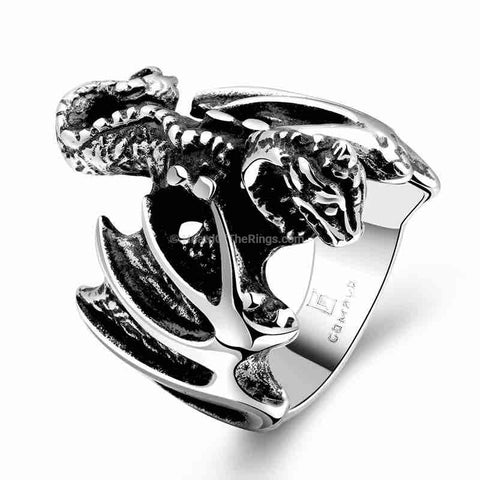 The Silver Flying Dragon Ring