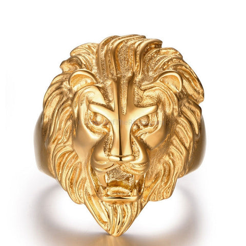 The Golden Lions Head Knuckle Ring