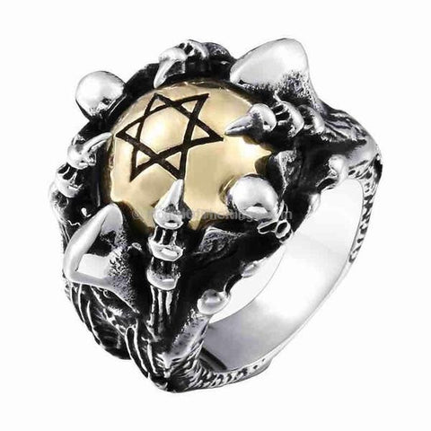 Hexagram Bone Ring