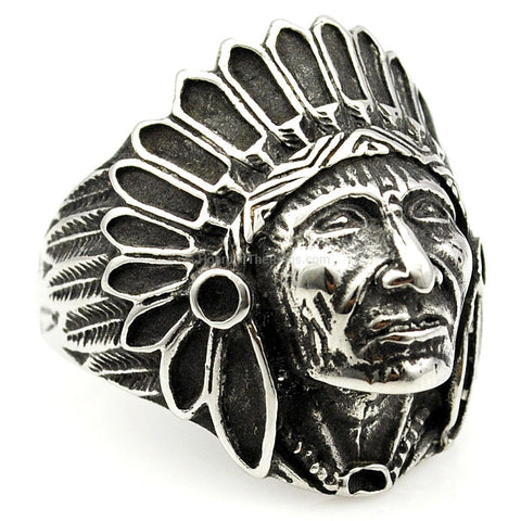 Apache Indian Chief Ring - HoardOfTheRings.com