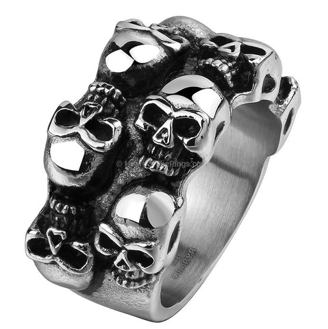 The Dead Head Ring - HoardOfTheRings.com