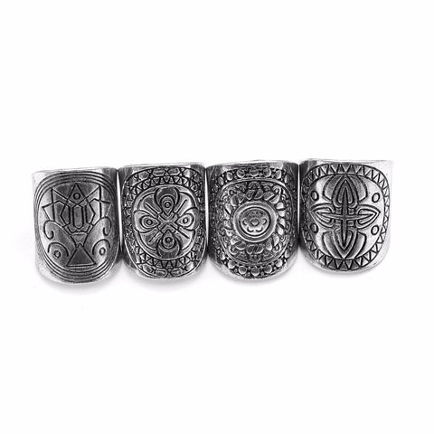 4 Piece Aztec Band Ring Set - HoardOfTheRings.com