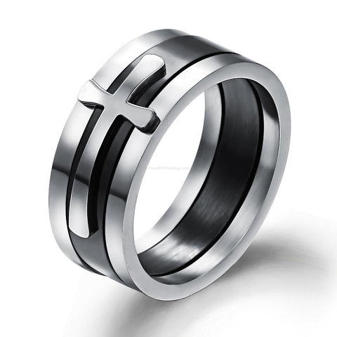 3 Piece Detachable Cross Ring - HoardOfTheRings.com