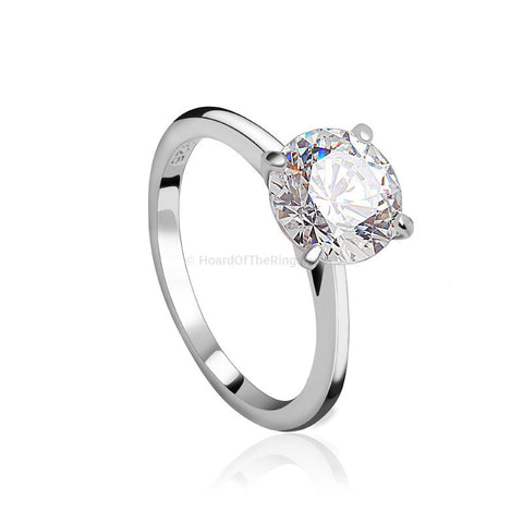 Classic Sterling Silver Engagement Love Ring