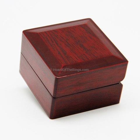Solid Wood Single Ring Presentation Case - HoardOfTheRings.com