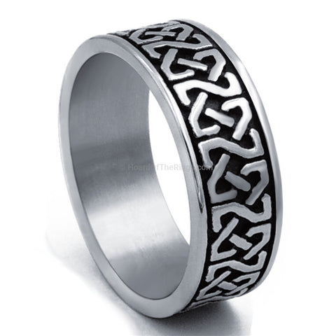 Steel Celtic Knot Ring