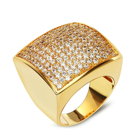 160+ Cubic Zirconia Stones in 18k Gold Plated Setting