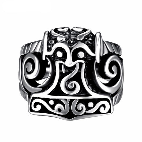 Rock Gothic Masonic Ring