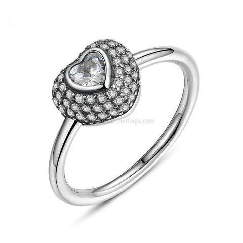 In My Heart Pave 925 Sterling Silver Ring - HoardOfTheRings.com
