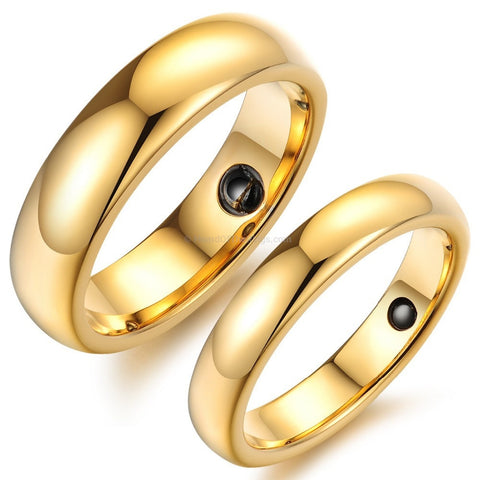2 for 1 His + Her's Magnetic Energy Rings - HoardOfTheRings.com