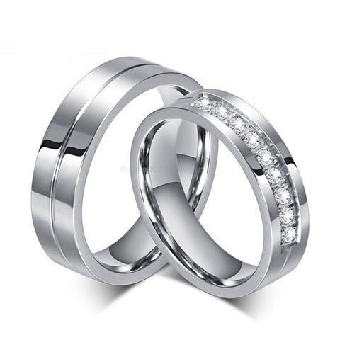 2 For 1 Silver Couples Wedding Anniversary Band - HoardOfTheRings.com