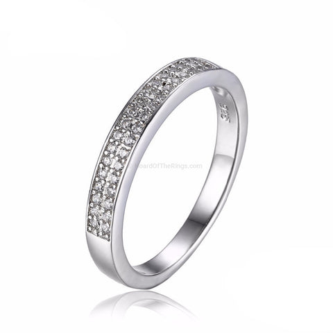 Cubic Zirconia Eternity Ring 925 Sterling Silver - HoardOfTheRings.com