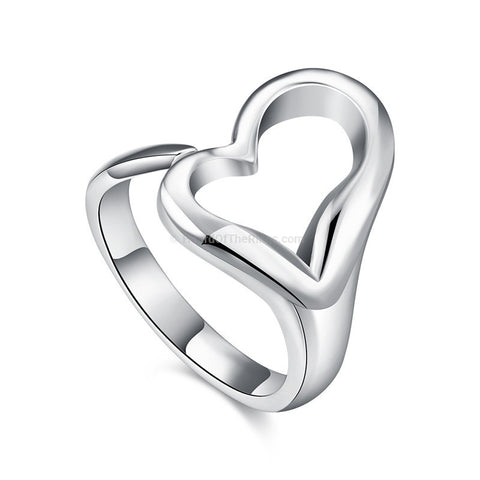 Silver Infinity Heart Ring - HoardOfTheRings.com