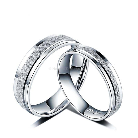925 Sterling Silver Lovers Eternity Rings - HoardOfTheRings.com