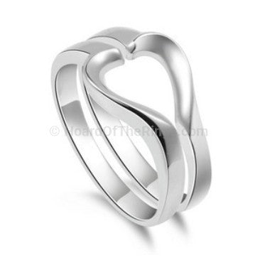 Sterling Silver Single Heart Ring - HoardOfTheRings.com