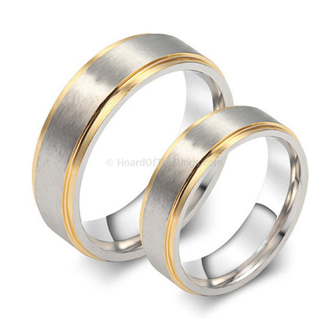 2 For 1 - 18k Gold Plated Matching Unity Rings - HoardOfTheRings.com