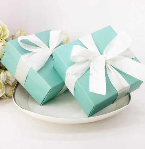 Tiffany Inspired Paper Ring Gift Box - HoardOfTheRings.com
