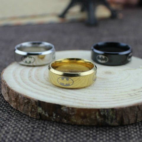 Batman Ring Gold, Black or Titanium