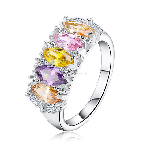 Multi Colour Queen Dress Ring
