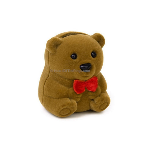 Teddy Bear Ring Presentation Case - HoardOfTheRings.com