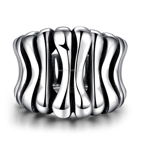 Polished Steel Bone Ring