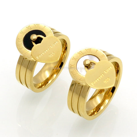 Forever Love Gold Charm Ring