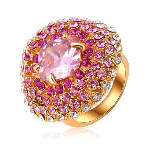 Fantastic Pink Blossom Flower Ring