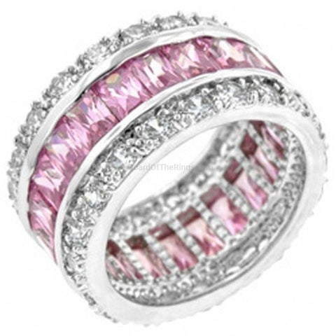 I Love Pink 15ct CZ 925 Sterling Silver Ring - HoardOfTheRings.com
